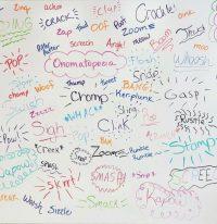 onomatopoeia word wall