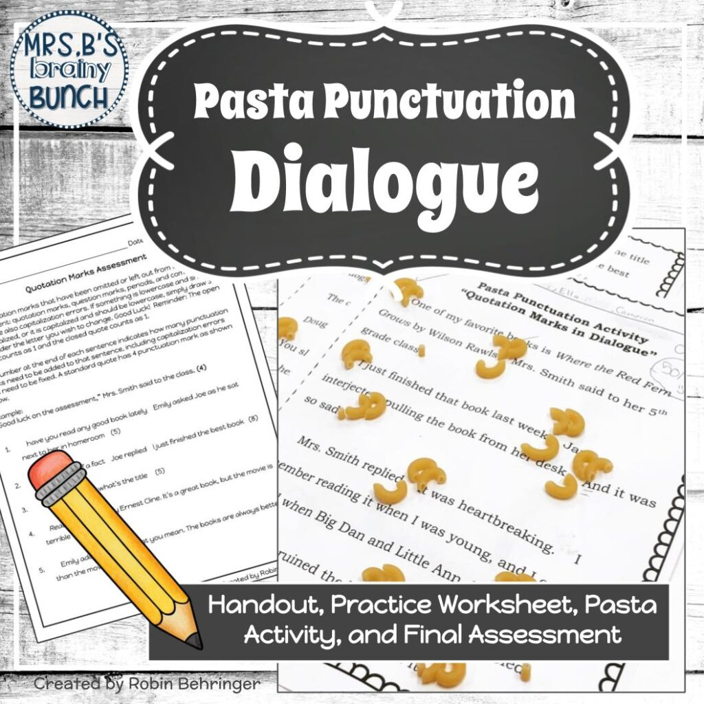 cover of Pasta Punctuation Dialogue resource