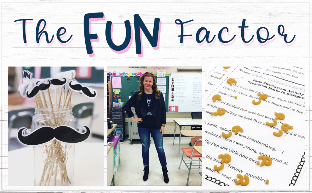 the blog image saying The Fun Factor to increase student engagement