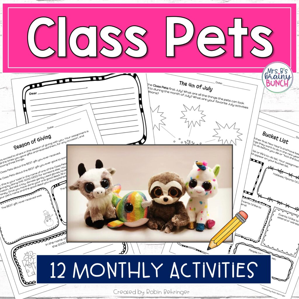 picture of the Class Pets 12 monthly activities that will extend the sense of community