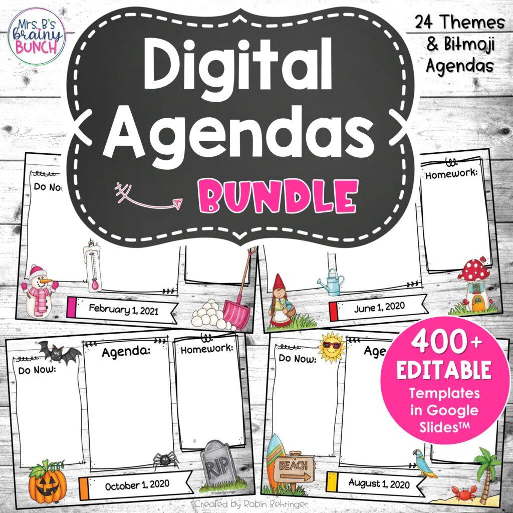 picture of my bundle of seasonal digital agendas