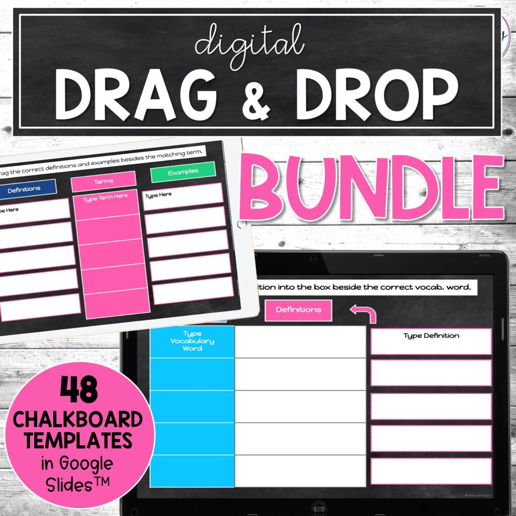 picture of my bundle of drag and drop templates