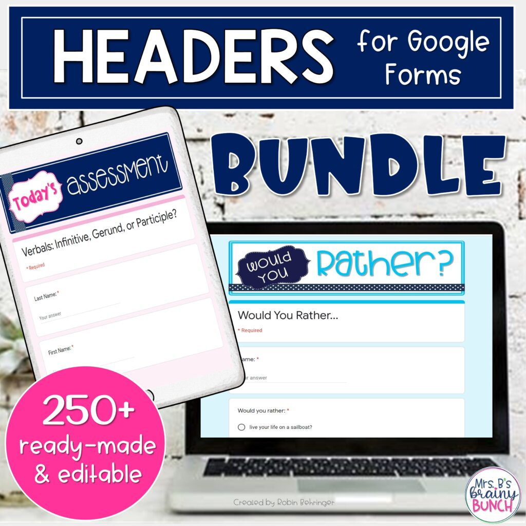 Google headers bundle of ready-made and editable
