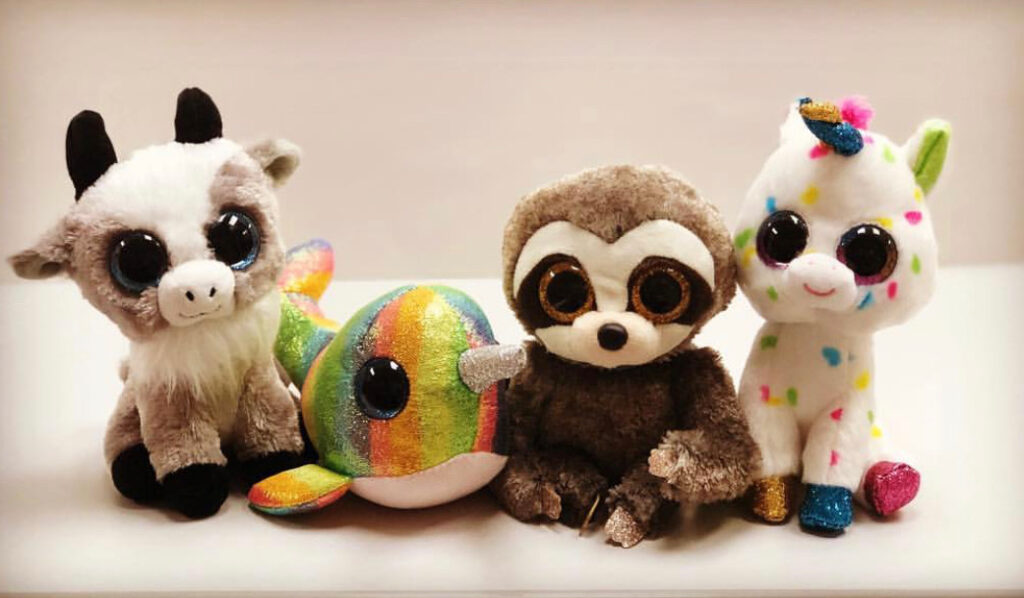 picture of 4 stuffed animals, the Class Pets from the Class Pets blog.