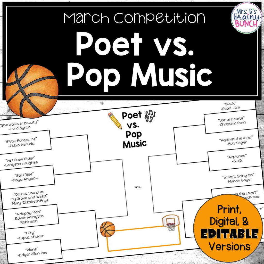 March Competition of Poetry and Pop Music