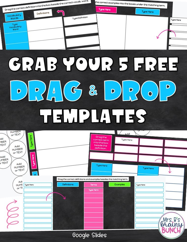 Picture of the FREE Drag and Drop Templates