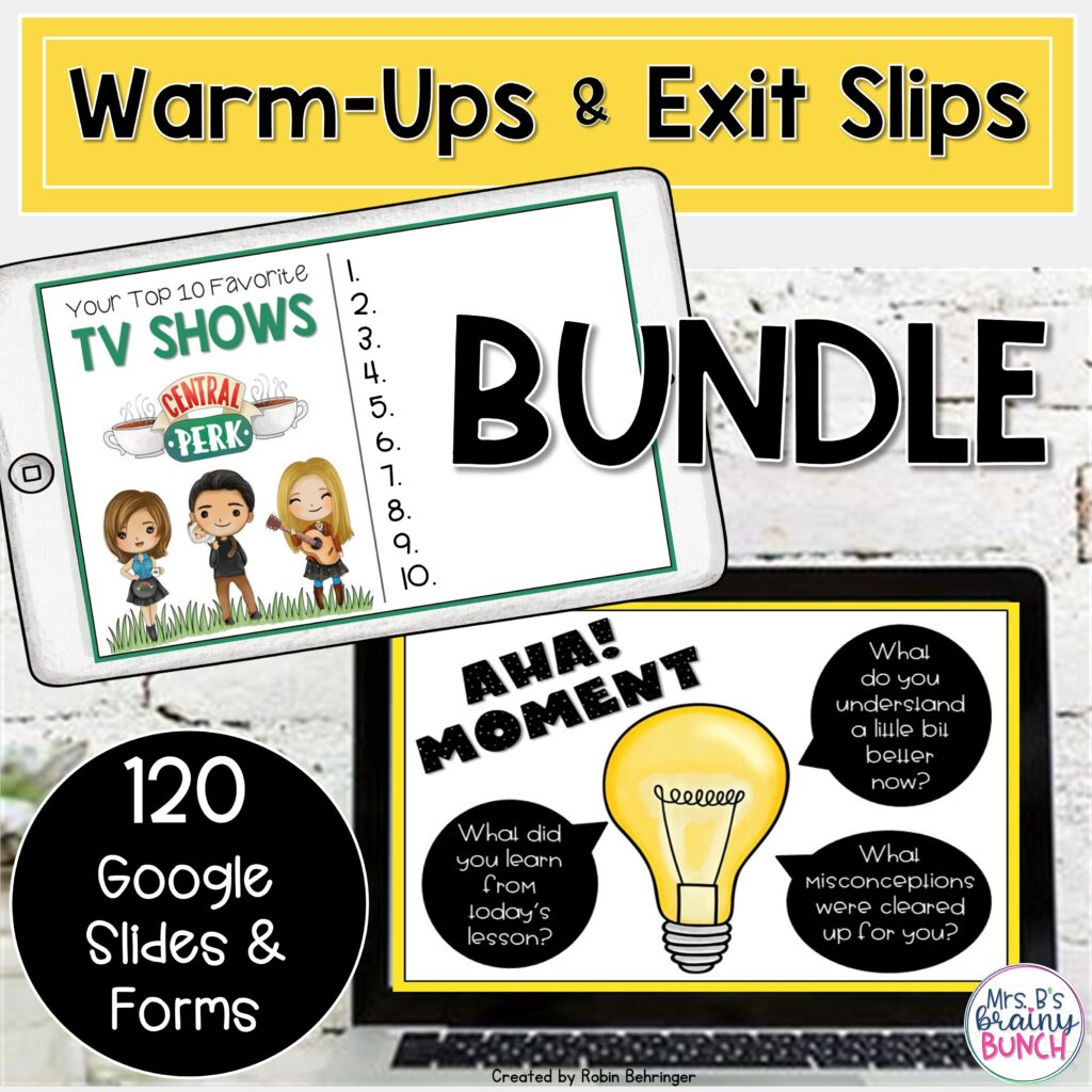 warm-ups and exit slips bundle