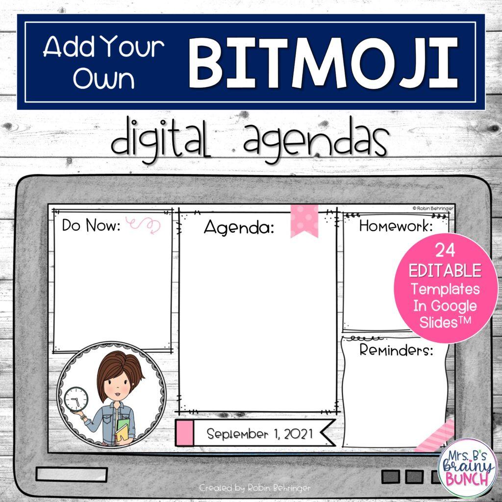 Add Your Bitmoji Digital Agendas resource in my TpT store