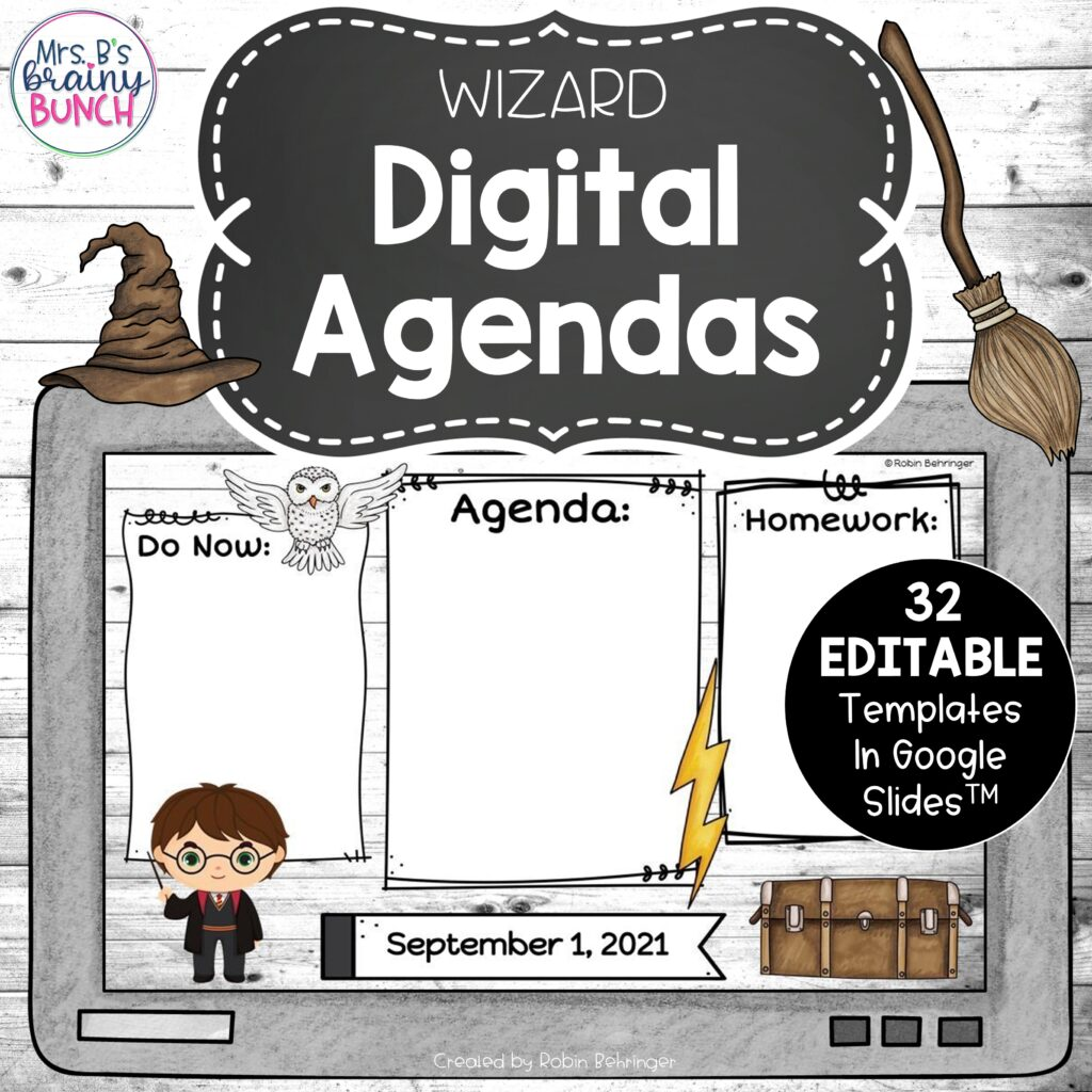 Harry Potter Digital Agendas resource in my TpT store