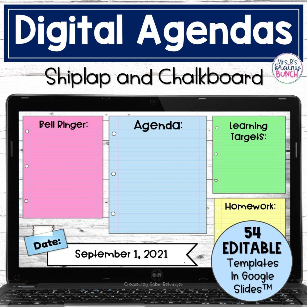 Digital Agendas resource in my TpT store